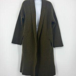 Madewell Jackets & Coats - Madewell Olive Rivington Sweater-Coat Merino Wool